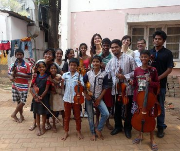 Violin and Cello kids with Ensemble Riccardi-Feola-Bager
