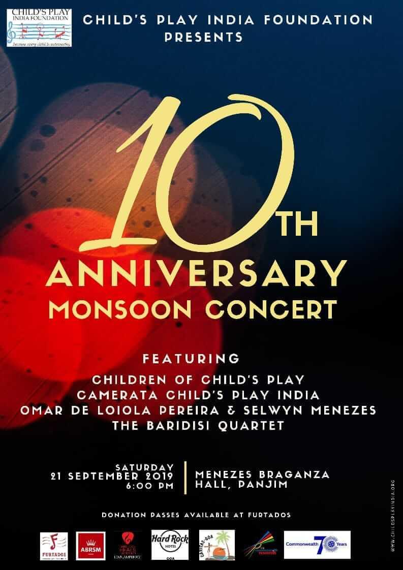 10th Anniversary Monsoon Concert – 21 September 2019